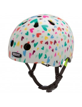 CASCO NIÑO BABY NUTTY HAPPY HEARTS STREET HELMET XXS - NUTCASE