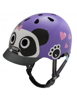 CASCO NIÑO LITTLE NUTTY PURPLE PANDA STREET HELMET XS - NUTCASE